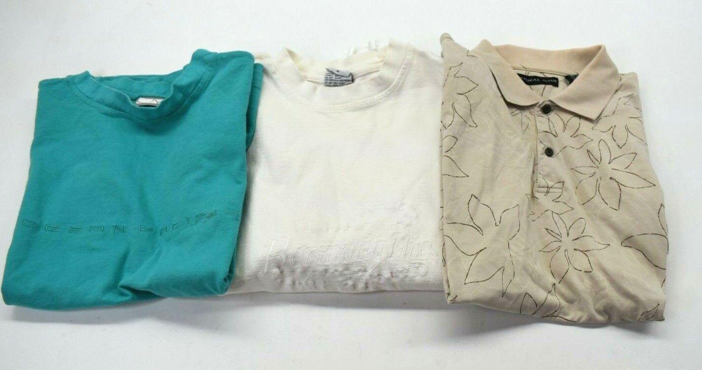 Lot of 3 Vintage 80s 90s Brands Men's Medium T-Shirt Polo Sweater Sweatshirt