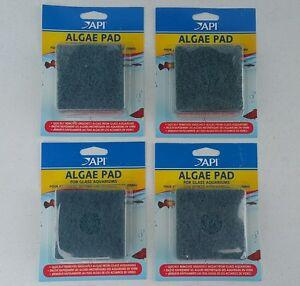 "Pet Supplies Energetic Lot Of 4 Api 3""x3"" Hand Held Algae Pad Scrubber For Glass Fish Tank Aquariums"