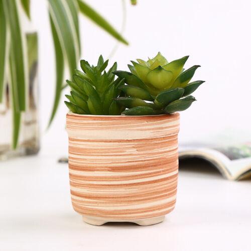 Ceramics Chinese Bonsai Flower Pot Round Plain Color Glazed Plant Flowerpot