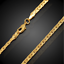 18k-Goldkette-50cm-Pankerkette-4MM-vergoldet-Geschenk-Damen-Herren-Halskette-GK9 Indexbild 2