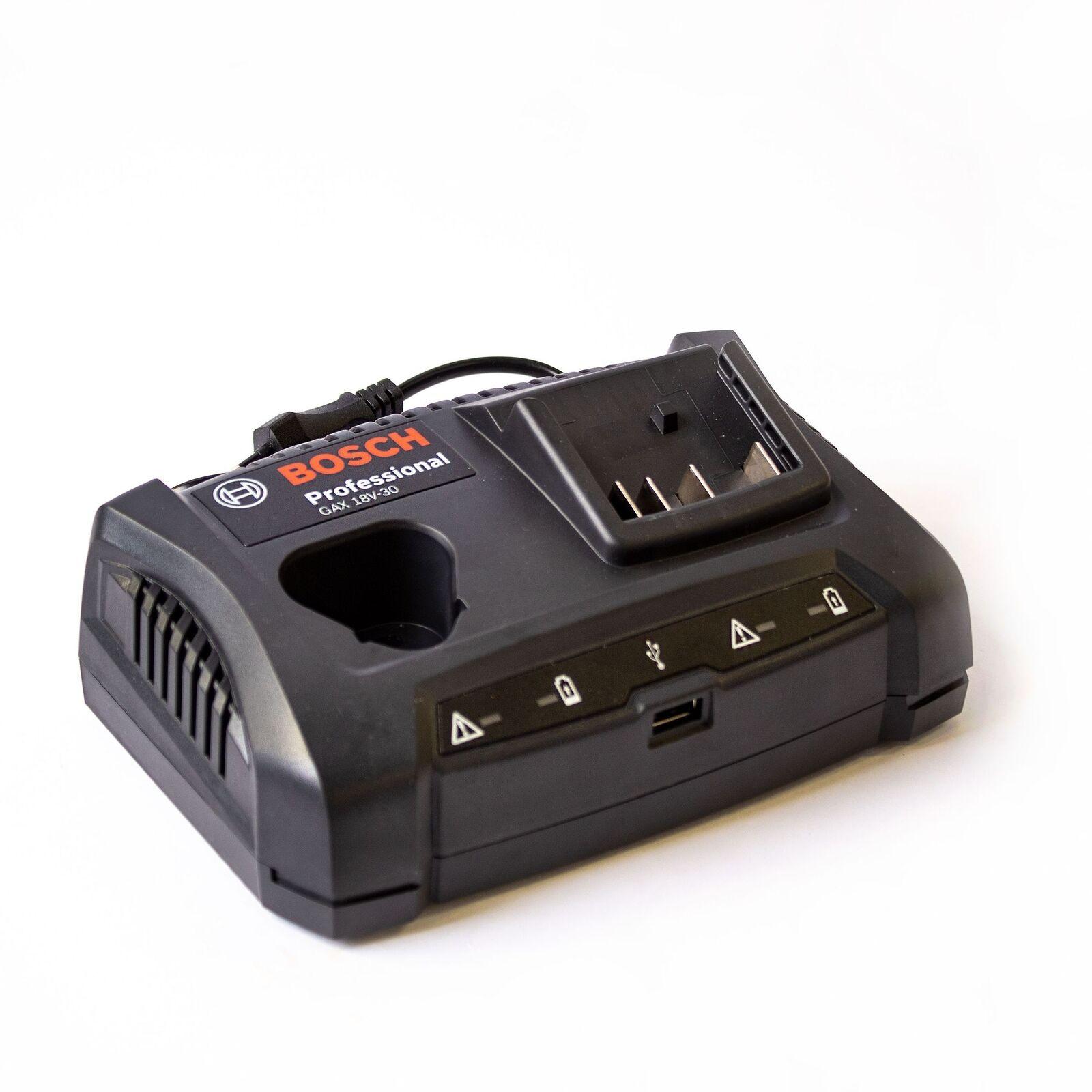 Bosch Ladegerät GAX 18 V-30 - Dual Bay-, Multivolt- und USB-Schnellladegerät