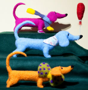 Pop-Art-Dachshund-One-of-a-Kind-Hand-Made-Needle-Felted-choose-one-of-3