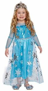 Ice Princess Costume Childrens Girls Fairy Tale Fancy Dress Outfit