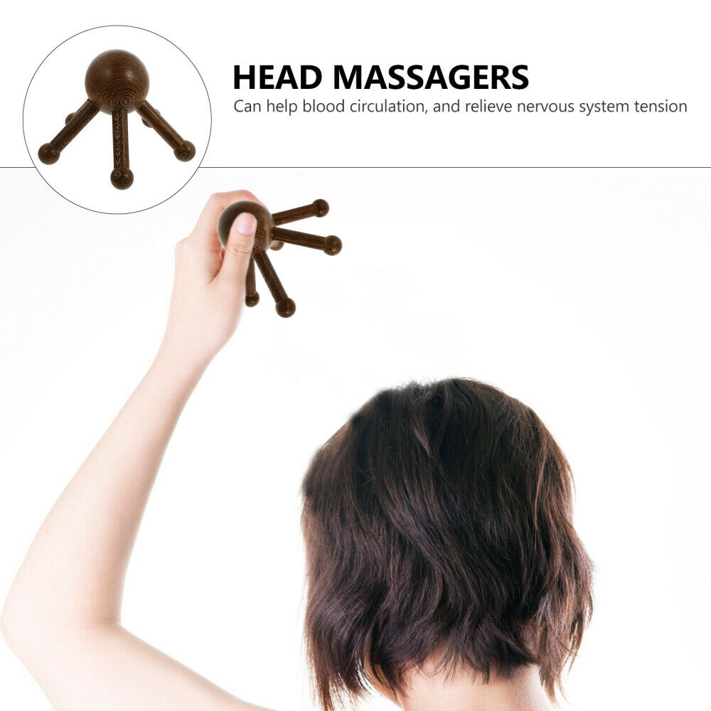 1pc Durable Multipurpose Practical Head Claw Massager Handheld Head Massager