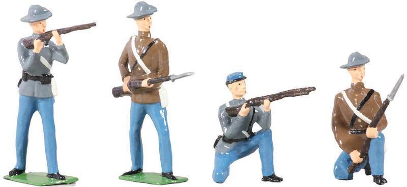 W Britain 49025  American Civil War Confederate Infantry Set No.1 - Gloss Finish