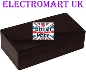 Abs plastique noir electronics project box enclosure 216 x 130 x 85MM