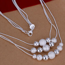 Collana donna Sfere opaco/brillante Mix 45cm pl. con Argento sterling