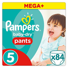 PAMPERS Baby Dry Pantaloni Taglia 5 CONF. da 84 fino a 12hr secchezza veloce assorbente Pannolino