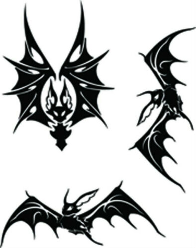 bats SINGLE USE ONLY rc hobby airbrush stencil/'s paint mask/'s