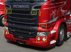 Stainless Steel Door Handle  Cover Scania S /& R Series next Generation 2016