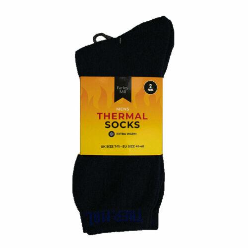 MEN/'S LONG THERMAL SOCKS WINTER WARM Outdoor Walking Work Boot Sock Adult UK