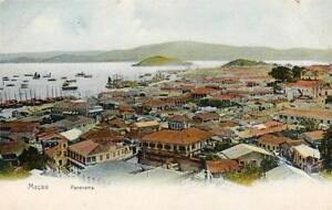 Macao Panorama old pc used Peckham 1907 published M Sternberg Hong Kong