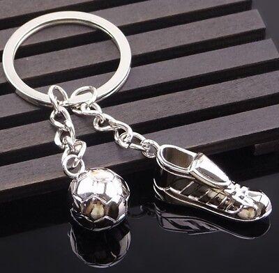 Sportigo ® Fußball Schlüsselanhänger Fußballschuh mit Ball / Geschenk