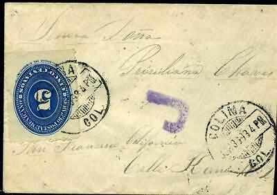 """Stempel Großes Violettes """"j"""" Reinigen Der MundhöHle. 228 Auf Brief In Die Usa 1893 Mexiko Nr 409110"""