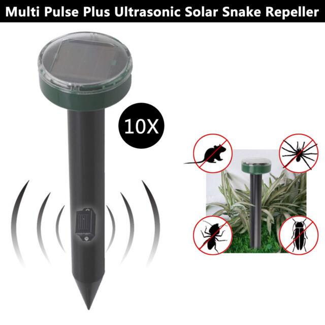 10x Solar Power Ultrasonic Mosquitos Snake Mouse Pest Killer Repeller Control AU