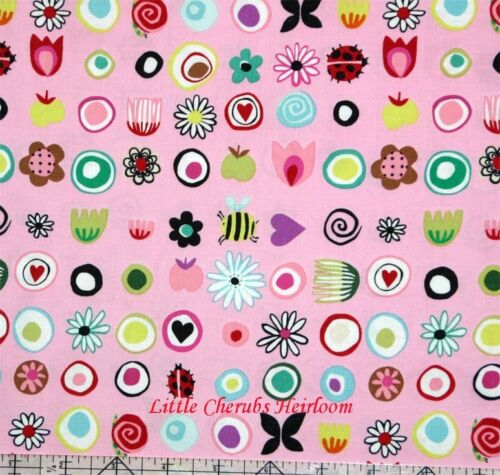 Alexander Henry June Blooms Funky Dots Pink Fabric BHY