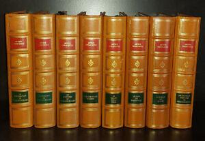Conan Doyle : Sherlock Holmes en 8 volumes Reliure véritable plein cuir Havane