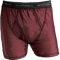 1 Pair Duluth Trading Company Buck Naked Performance Boxer Briefs Wine Xlg, 2xl