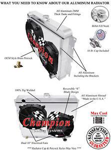 1970 1971 Dodge Challenger 3 Row Champion WR Radiator