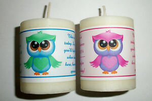Image Is Loading 28 OWL BABY SHOWER FAVORS VOTIVE CANDLE LABELS