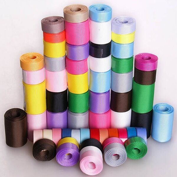 """3/8"""" IN 5/8""""1""""1.5"""" 1-1/2"""" INCH. Solid Grosgrain Ribbon 5YDS Free Shipping"""