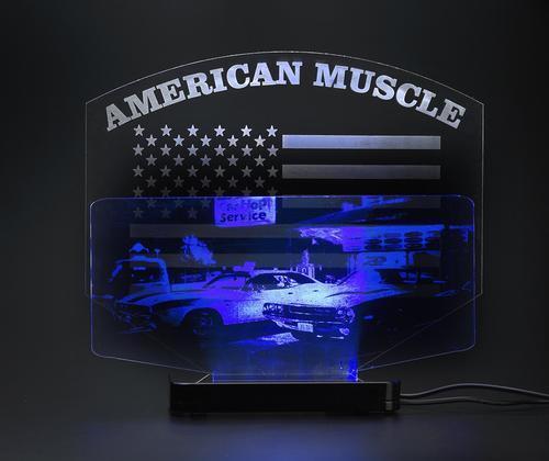 American Muscle, LED Desktop Bar Lamp