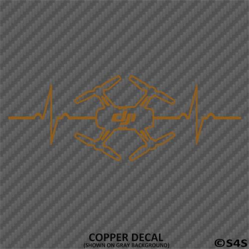 Choose Color DJI Spark Heartbeat Decal Quadcopter FPV Phantom Mavic Sticker