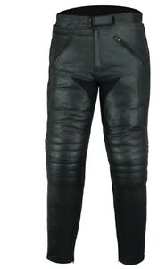 Black-Tab-Mens-CE-Armour-Touring-Leather-Motorcycle-Jeans-Trousers-Comfort-Fit