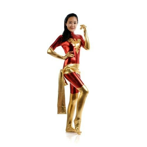 Halloween Cosplay Halloween Costume X-men Jean Grey Summers Girl Zentai Suit