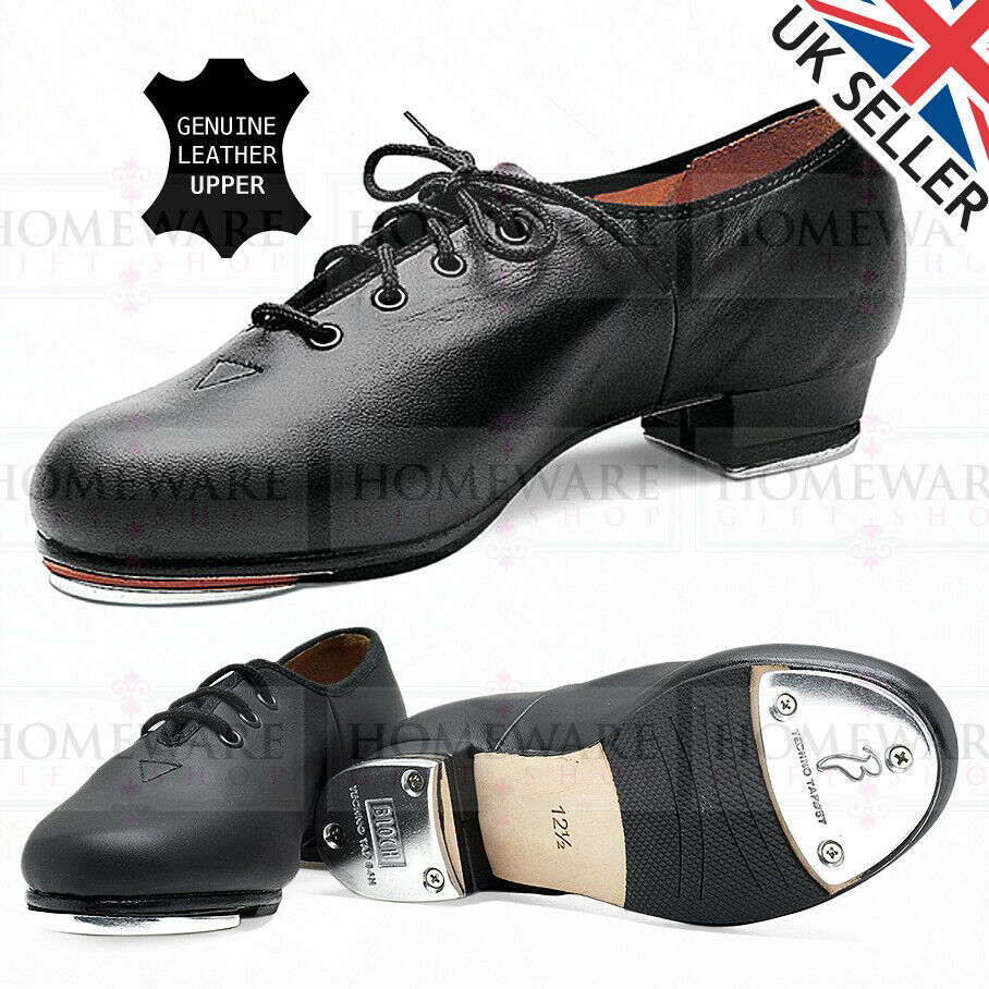 BLOCH MENS JAZZ TAP SHOES DANCE GENUINE SOFT LEATHER UPPER LACE UP NEW S0301M UK