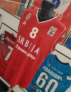 new product f0110 be1dd Details about Jersey T-Shirt Maglia Camiseta Serbia NBA Fiba Kings Bjelica  Basketball Serbia