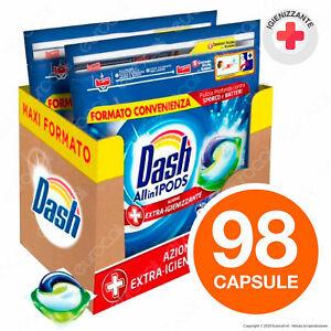 98-Pastiglie-Dash-All-in-1-Extra-Igienizzante-Pods-Detersivo-per-Lavatrice