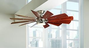Image Is Loading 60 034 Large Led Ceiling Fan Windmill Light