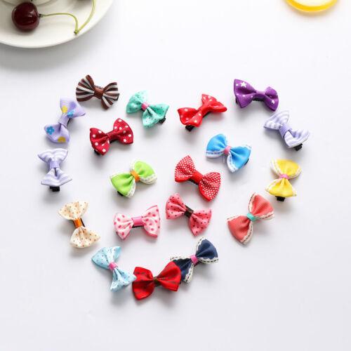 10PCS Kids Baby Girl/'s Bow Ribbon Hair Bow Hair Clip Mini Bowknot Clips Hairpins