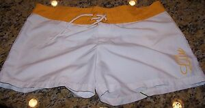 LULU-Board-Shorts-WHITE-YELLOW-BLUE-GREEN-ORANGE-Junior-039-s-13-Pre-Owned