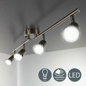 LED Deckenleuchte Decken-Strahler 4er Spot-Leuchte Lampe Wohnzimmer Schlafzimmer