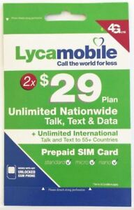 Details about Lycamobile $29 Plan Preloaded 2 Months SIM 5GB 4G LTE Data  Unlimited Talk Text