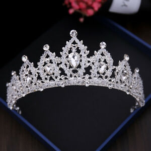 Crystal-Beaded-Bridal-Princess-Tiara-Wedding-Crown-Birthday-Prom-Hair-Accessory