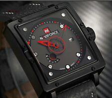 Montre Fashion Naviforce Militaire Homme Date Bracelet cuir US Army Watch PROMO