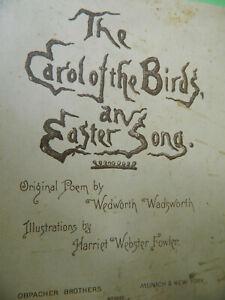 "Wedworth Wadsworth ""Carol of the Birds an Easter Song"" Poem    Durham, CT"