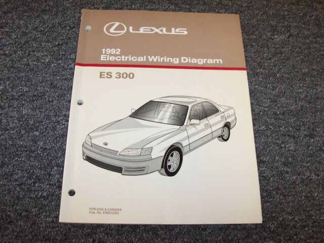 1992 Lexus Es300 Sedan Factory Original Electrical Wiring Diagram Manual 3 0l V6
