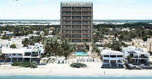 Venta departamento en la playa frente al mar 3 recámaras en Litoral beach en Chicxulub Yucatán