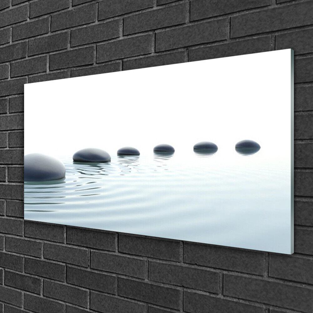 Tableau sur verre Image Impression 100x50 Art Pierres Eau
