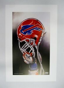 "Buffalo Bills NFL Football 20"" x 30"" Team Lithograph Print by Kelly Russell"