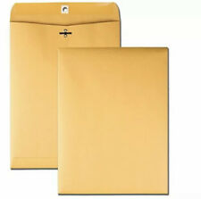 100 Pcs Clasp Envelopes 9x12 28lb Kraft Shipping Mailing Gummed Business Brown