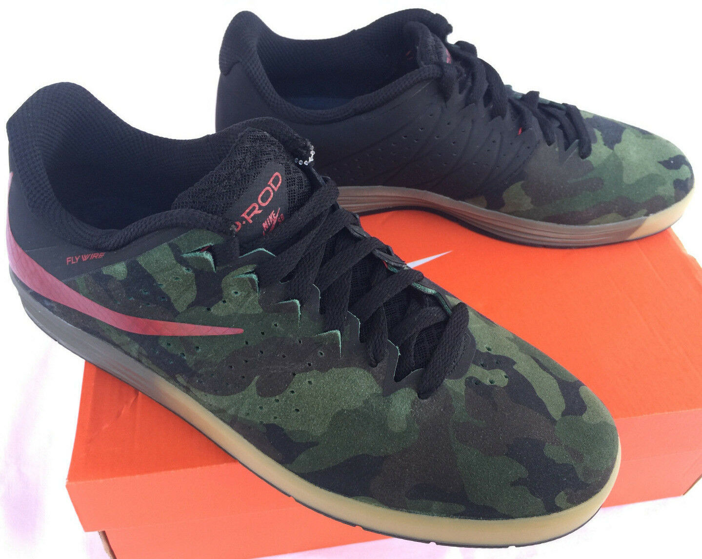 Nike SB Paul Rodriguez, ciudadela de 7,5 CAMO skateboarding zapatos hombres 7,5 de nueva 1cadda