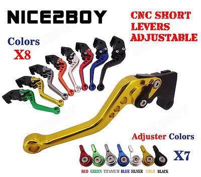 Short Brake Clutch Levers Fit Suzuki GSX-R1000 K5 05-06 GSX-R600/750 K6 06-10