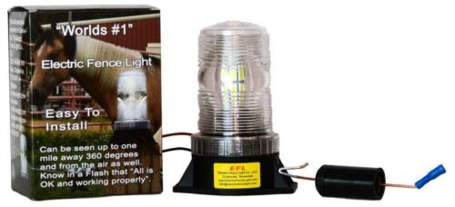 Worlds #1 Electric Fence Light Indicator LED  Chargers less than 3 Joule NEW