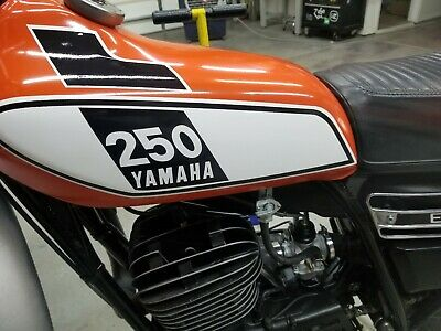 YAMAHA 1974 DT360 DT 360 EXHAUST SHIELD SIDE DECAL GRAPHIC LIKE NOS