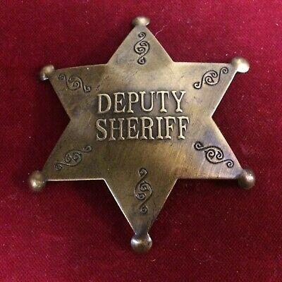 Police Old West Badge: Deputy Sheriff shield Lawman
